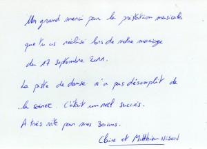 Mariage de Claire et Mathieu